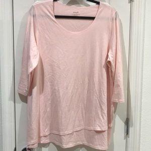 Pure Jill Soft Pink Slight Asymmetrical 1X